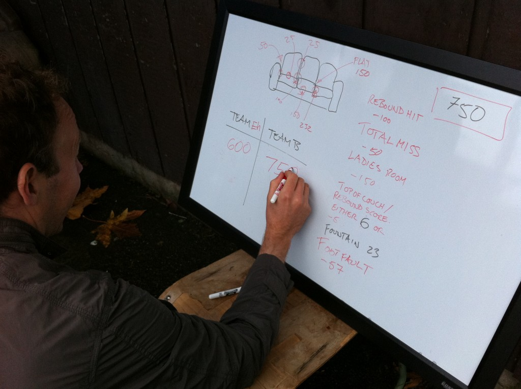 Mike tallying final Couchie score
